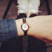 Womens Classic Leather Watch Unique Simple Watches +Gift Box- 479