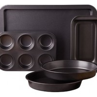 Sunbeam 76893.05 Kitchen Bake 5-Piece Bakeware Set, Carbon Steel:Amazon:Kitchen & Dining