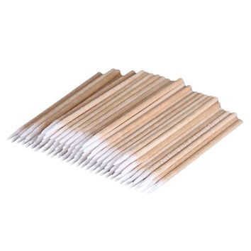 100pcs high quality Permanent Makeup Cotton Pointed Swab Cure Health Makeup Stick #654