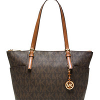 MICHAEL Michael Kors Jet Set Logo Top-Zip Tote