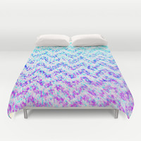Chevron Splash Duvet Cover by M Studio