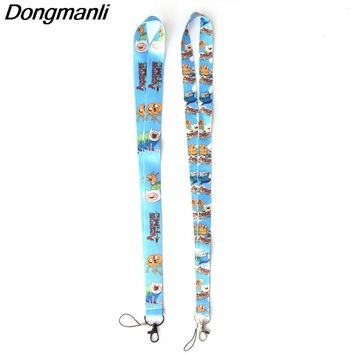 Dongmanli Adventure Time cute Lanyard Key Strap for Phone Autism Cartoon Lanyards ID Badge with Key Ring Holder M2363