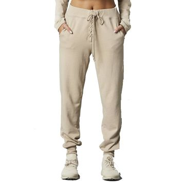 Year of Ours - Lace Up Sweatpant - Sand