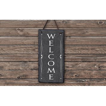 Handmade Slate Welcome Sign