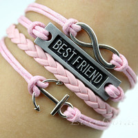 Infinity bracelet, anchor bracelet, bracelets, bracelets, best friends infinite karma bracelet, pink sweet gift for your favorite man