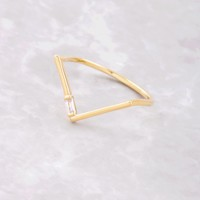 Baguette Point Ring