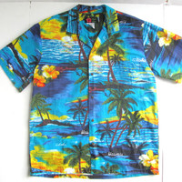 Vintage Hawaiian Aloha Shirt Mens Medium