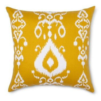 Threshold™ Ikat Toss Pillow - Gold (Square)