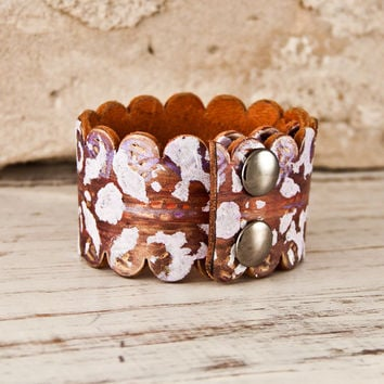 Holiday Shopping Leather Jewelry Cuffs Bracelets for Women - Wrist Cuff - Christmas Gift Guide - Winter Finds