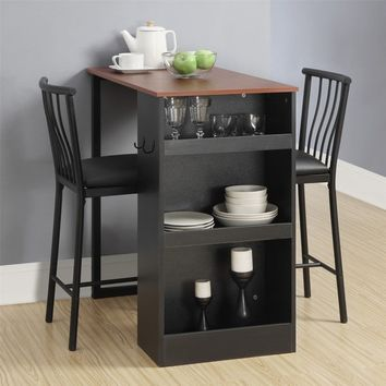 Black Walnut 3-piece Counter-height Pub Table Set | Overstock.com Shopping - The Best Deals on Pub Sets