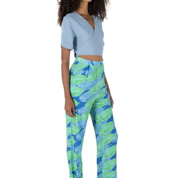 Banana Leaf Resort Pants - Sea Leaves