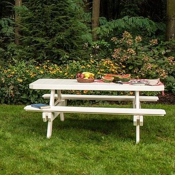 LuxCraft Recycled Plastic 6' Rectangular Picnic Table