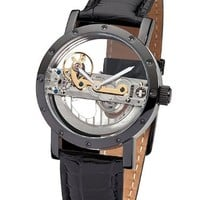 M. Johansson Automatic Full Skeleton Leather Men's Watch SougiaB