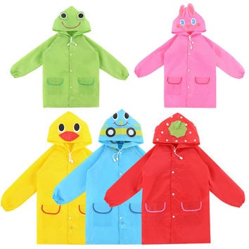 Outdoor New Cute Waterproof Kids Rain Coat For children Raincoat Rainwear Rainsuit Kids Animal Style Raincoat l1