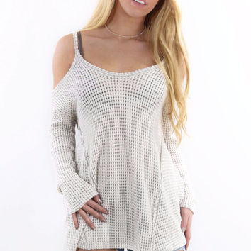 The Bronx Oatmeal Knit Top