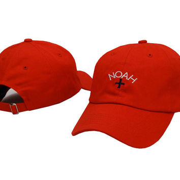 Red NOAH Embroidered Baseball Cap Hat