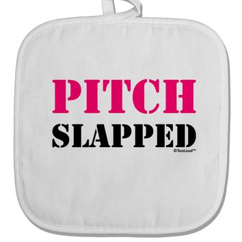 Pitch Slapped - Pink White Fabric Pot Holder Hot Pad