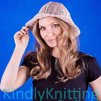 6dbf6047dc0 Crochet summer panama hat woman Cloche hat Summer hats crochet f