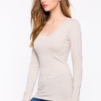 Long Sleeve V Neck Tee