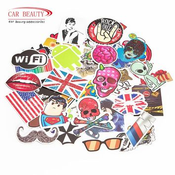 100 Pcs Waterproof Vinyl Sticker bomb for Laptop Car Skateboard Luggage
