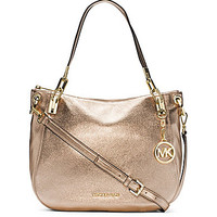 MICHAEL Michael Kors Brooke Metallic Convertible Shoulder Bag
