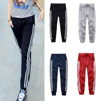 MDIGWQA Womens Basics Pants Three Vertical Stripe Slacks Ladies Girls Sweat Pants