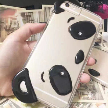 Cute Panda iPhone 7 5s se 6 6s Plus Case + Gift Box 378