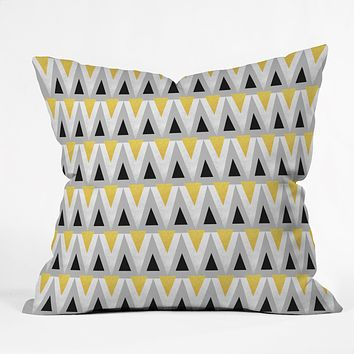 Elisabeth Fredriksson Triangle Parade Throw Pillow