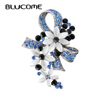 STYLEDOME Vintage Turkish Brooches Flower Bowknot Brooch For Women