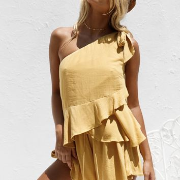 Lisari Frill Playsuit - Playsuits by Sabo Skirt
