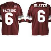 Saved By The Bell AC Slater #6 Bayside Tigers Costume Football Jersey - Saved By the Bell Costumes - | TV Store Online