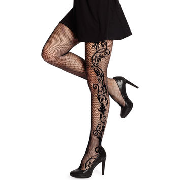 Hanes Silk Reflections Floral Net Tight