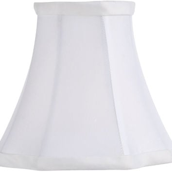 0-007457>3x5x4.5 Chandelier Oval Lamp Shade White
