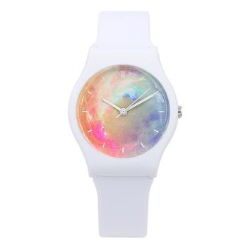 New Fashion Harajuku Star Women Water Resistant Sports Jelly Watch Simple Women Transparent Watches for Lady Girls Watch