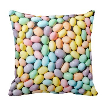 Colorful Sweet Pastel Candies Grunge Pillows