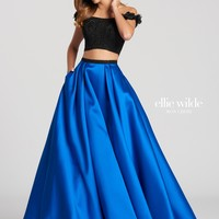 Ellie Wilde EW118168- Black/Royal Blue