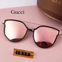 Gucci Women Fashion Popular Summer Sun Shades Eyeglasses Glasses Sunglasses Sliver Grey G-A-SDYJ