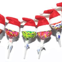 50pcs/lot New Christmas Cute Small Hat For Candy Decorations Candy Hat Christmas Creative Home Gift