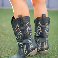 Cowboy Take Me Away Boots - Black