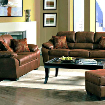 Serta 3800 Laramie Tanner Sofa and Loveseat