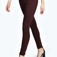 Sophia Burgundy High Rise Disco Jeans