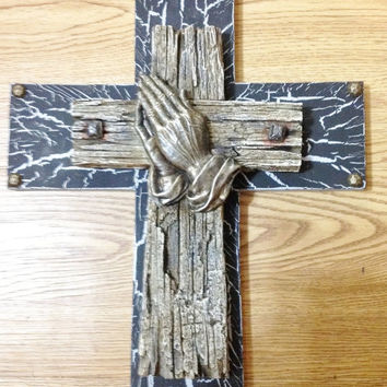 25off SUMMER-SALE Praying Hands Cross Decor