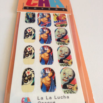 Let's go to the LUCHAS MEXICAN WRESTLER nail decal variety pack