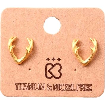 Must Have-Classic Antler Earring, Gold