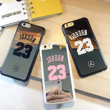 nba player star Michael Jordan 23 fundas PC hard mirror Phone Cases for iPhone 5 5s 6