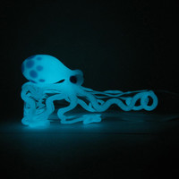 Glow in the Dark Octopus Pipe AG Original Chillum in YOUR CHOICE of color