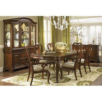 9180 Evolution - 5 Piece Set Leg Table & 4 Queen Anne Side Chairs