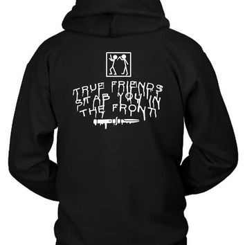 Bring Me The Horizon True Friends Stab You In The Front Stab Illustrations Hoodie Two Sided