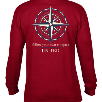 'Follow your own Compass' Long Sleeve Tee