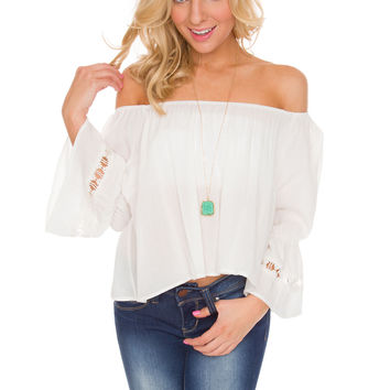 Mikala Top - White